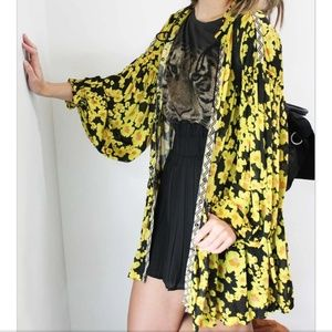 Free people Love Letter Floral Tunic Blouse NWT
